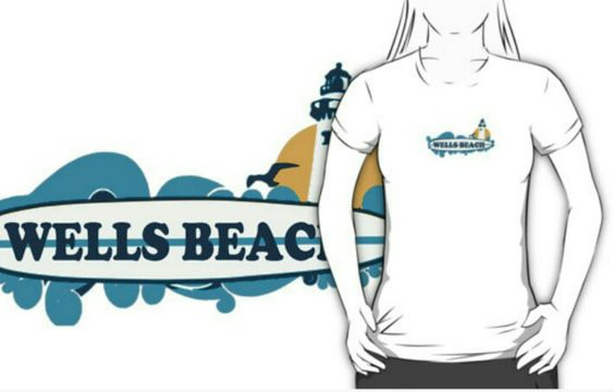 Wells Beach Wear. #wellsbeach  #maine  Available in redbubble and cafepress.