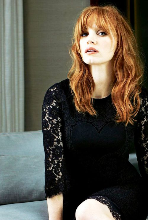 JESSCA CHASTAIN - played in Crimson Peak, The Martian, Interstellar, Lawless and Madagascar 3...etc...