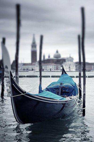 Blue boat Italy
