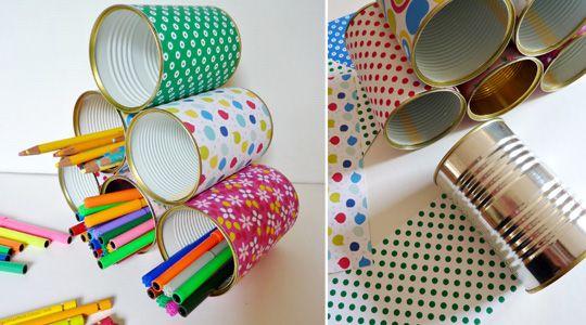 Id e r cup et un bricolage facile faire avec les enfants for Idee deco recup facile