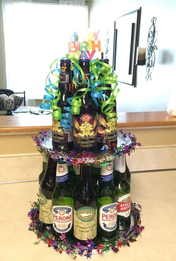 Beer bottle cake
