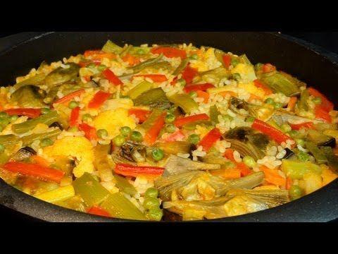 Arroz con verduras. Recetas de arroz - YouTube
