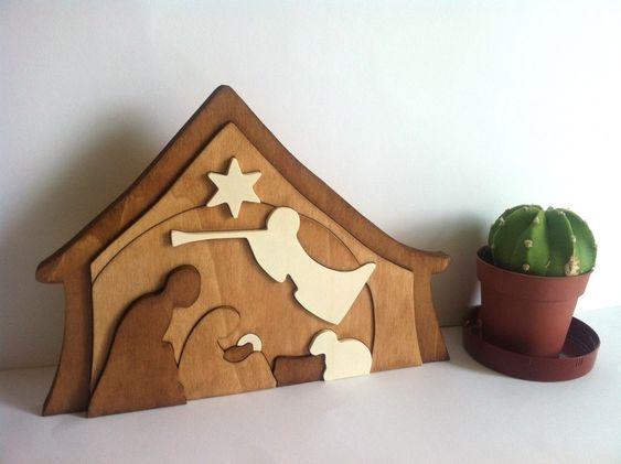 Portal de belen puzzle de madera de Planetasierra por DaWanda.com