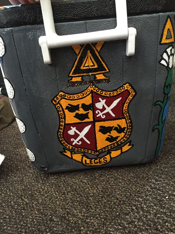 Painted Cooler Delta Chi Symbol And Anchor Crafty Pinterest
