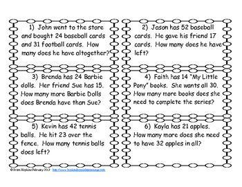 Common Worksheets » 4 Digit Subtraction Word Problems - Preschool ...