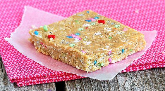 Cake batter energy bars...must try!: Batter Protein, Energy Bars, Cake Batter Bars, Granola Bars, Protein Bars, Batter Energy