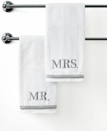 Avanti Bath Towels Mr Mrs 4 Piece Towel Set Bedding Towel