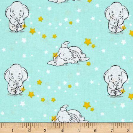 FAT QUARTER DISNEY DUMBO THE FLYING ELEPHANT SWEET DREAM STARRY SPRINGS CREATIVE