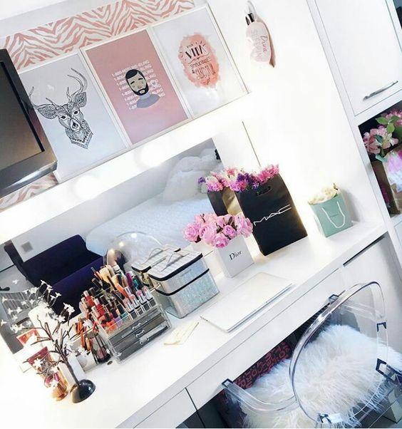 @blogbrunalucena #decor #decoração #closet #penteadeira #maquiagem
