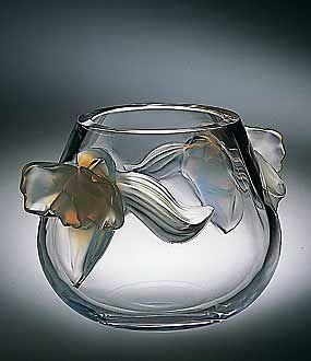 Lalique Orchid Vase: