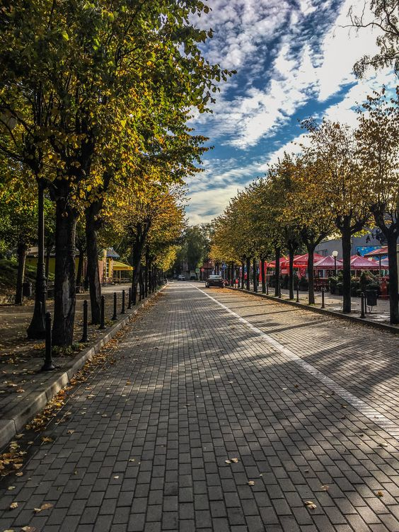 Пустые утренние дороги Светлогорска. Фото Жени Шведы
