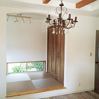 Lounge/シャンデリア/小上がり和室/小上がり畳スペースのインテリア実例 - 2015-08-23 00:09:56
