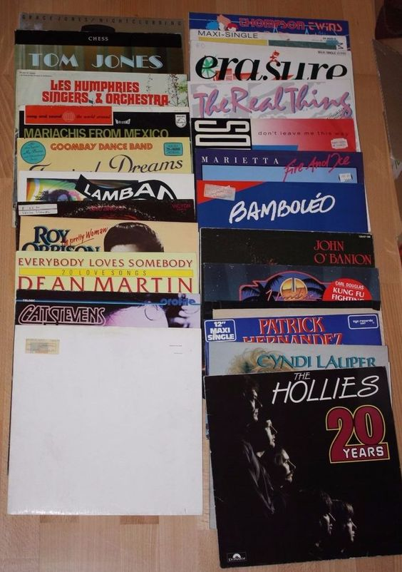 Vinyl Sammlung Rock/Pop PET SHOP BOYS ORBISON HOLLIES LAUPER 25 LPs