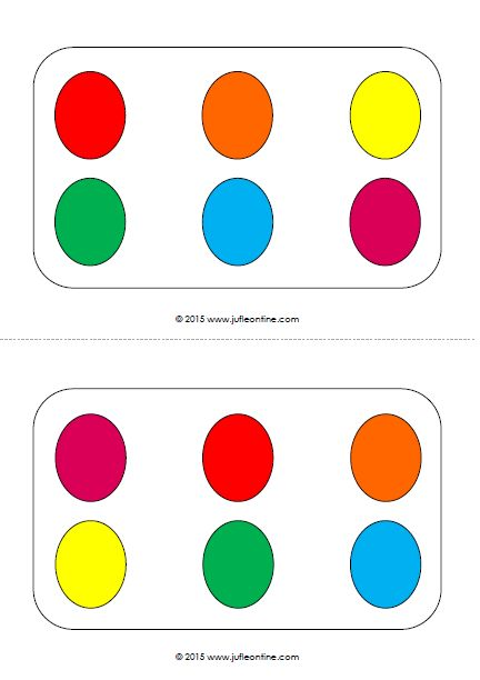 Eieren naleggen kleur visuele activiteit voor kleuters bij het thema pasen juf leontine - Kleur idee voor het leven ...