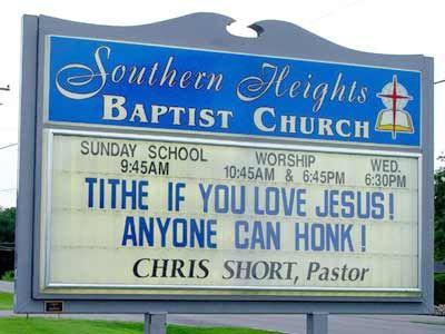 Church+Sign+Bloopers | Church Signs Across America - Beliefnet.com