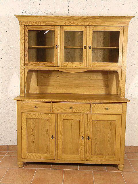 kompakter Küchenschrank aus dem Jugendstil   Kiefer - Kuech024 - küche kiefer massiv