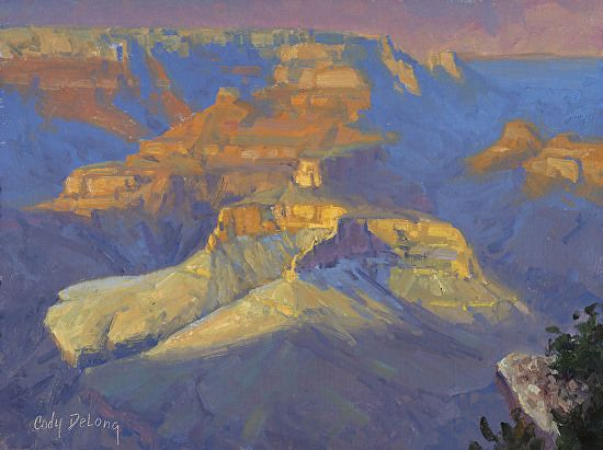 Middle Canyon Shadows, Grand Canyon by Cody DeLong  ~ 12 x 16 ~ oil