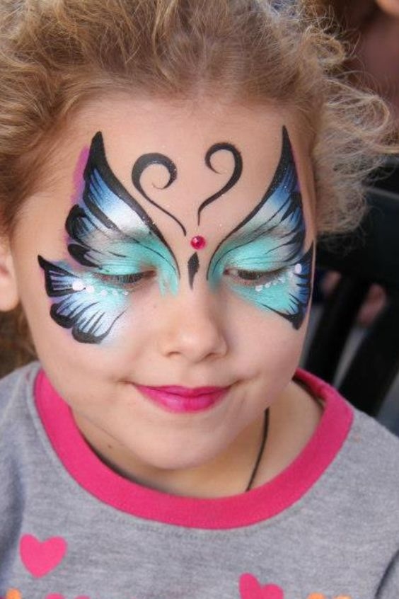 Face painting ideas for kids butterfly face painting for girls pinterest for kids dr who - Painting ideas ...