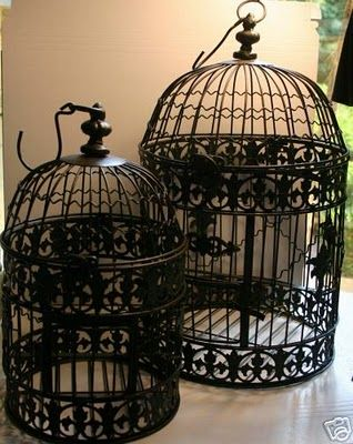love antique bird cages, find some where and paint to match dining room in new house