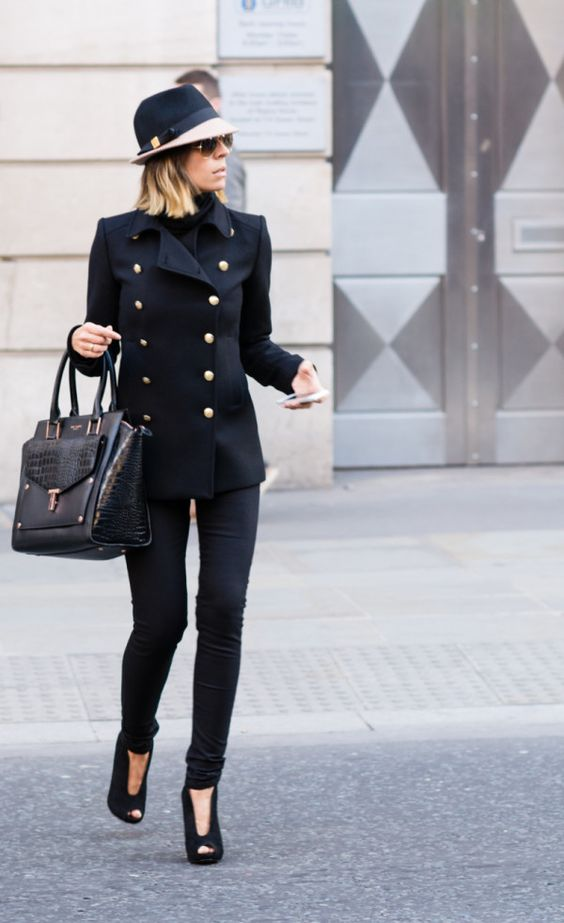 Black Military Jacket with gold buttons.I would wear this