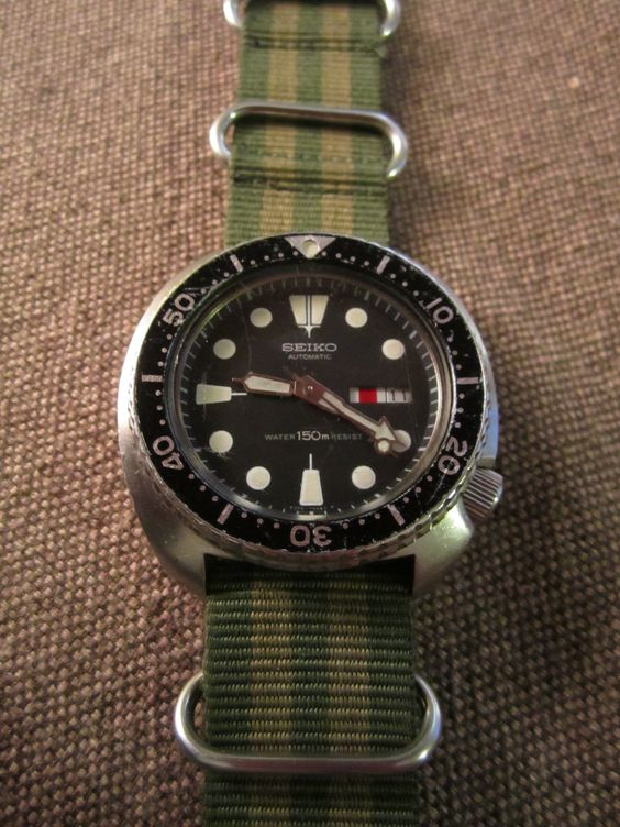 """Seiko 6309-7040 150m diver, January '85.  Roman / English daywheel.  Completely original, totally serviced, running great, $225.  Same watch worn in """"The Abyss"""" by Ed Harris for you underwater SciFi folks."""