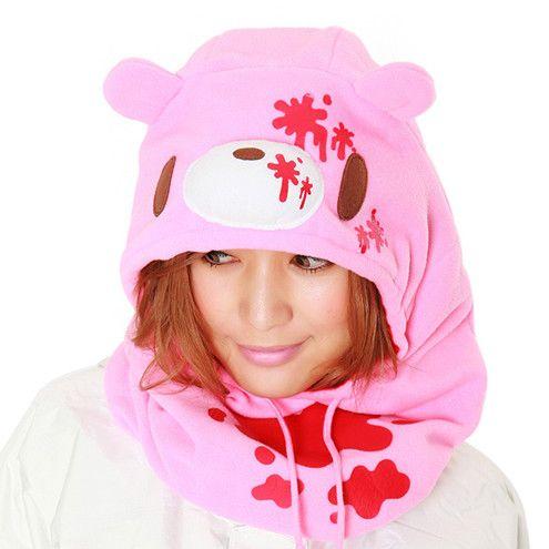 Gloomy Bear Pink Neck Warmer