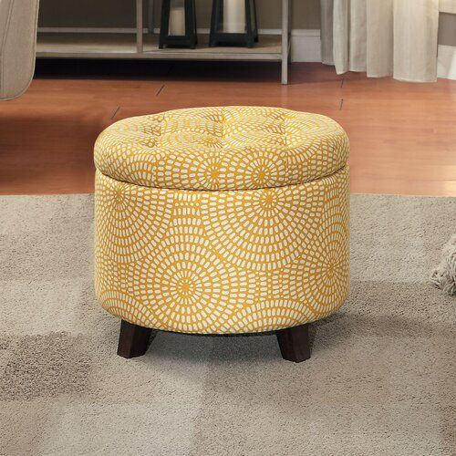 Zeringue Tufted Storage Ottoman Storage Ottoman Tufted Storage Ottoman Yellow Ottoman