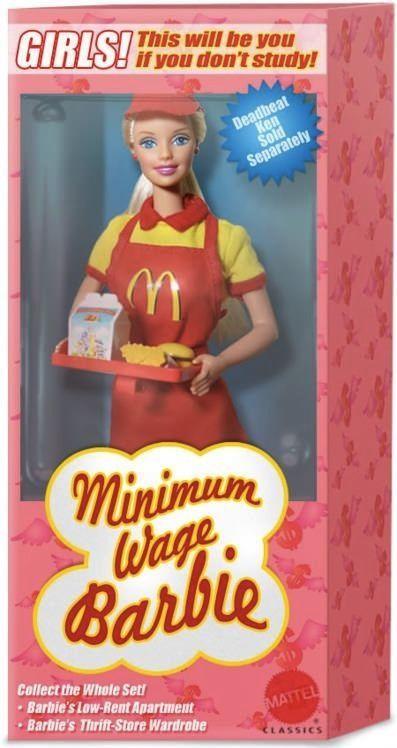 Minimum wage Barbie.