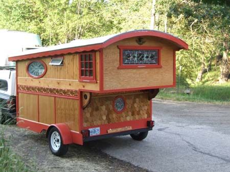 Custom gypsy wagons.  For real!  Beautiful work.  Would love to have one of these for a mobile shop!  --GypsiesRose