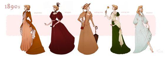 1890s fashion by ~Nibilondiel on deviantART