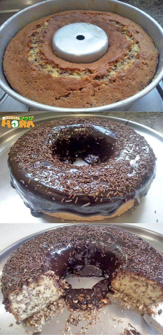 Bolo Formigueiro Com Cobertura De Chocolate Receita Bolo
