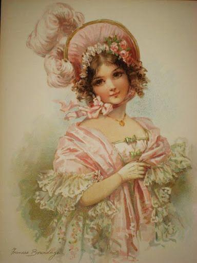 Bonnet girl: Printable Vintage Labels Etc, Vintage Prints, Cross Stitch, Gibson Girls, Lady, Labels Tags Printables, Vintage Girls, Printables Art