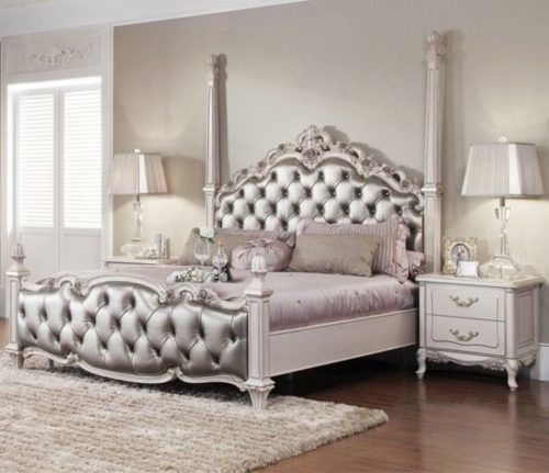 Wooden Carved Double Princess Bed 094 Oe Fashion Furniture