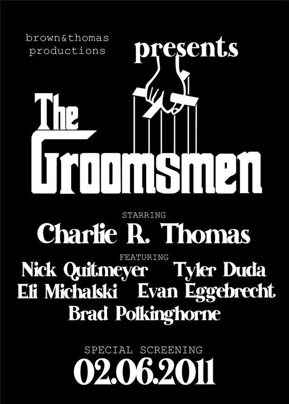 The Groomsmen (Godfather). $1.50, via Etsy.