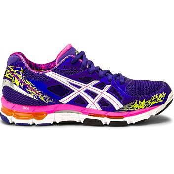 asics ladies trainers purple