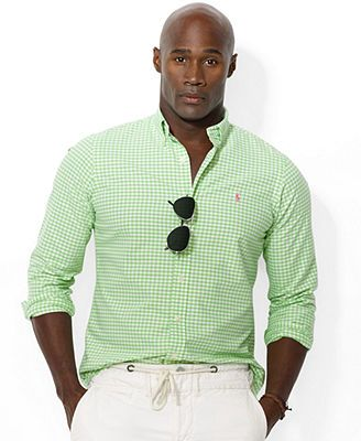 Polo Ralph Lauren Big And Tall Gingham Checked Oxford