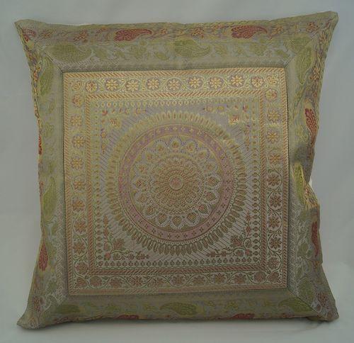Brokat-Kissenbezug-5er Set,orientalisch-indisch, Mandala, ohne Füllung
