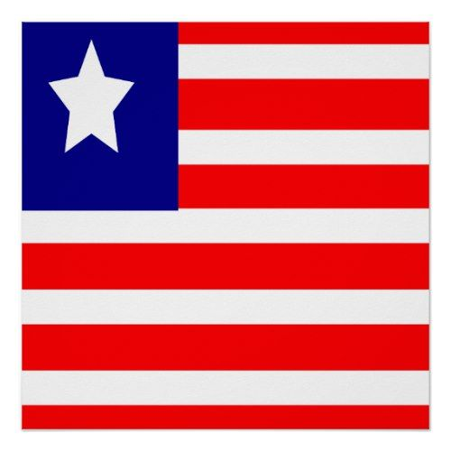 Flag Of Liberia Poster Liberia Flag Independence Day Poster Poster Prints