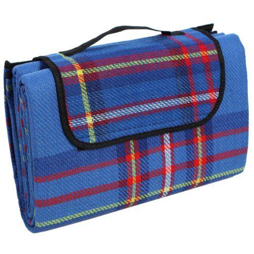 Songmics 195 x 150 cm Colchón para picnic y deporte al aire libre, a prueba de humedad, color azul GCM50B