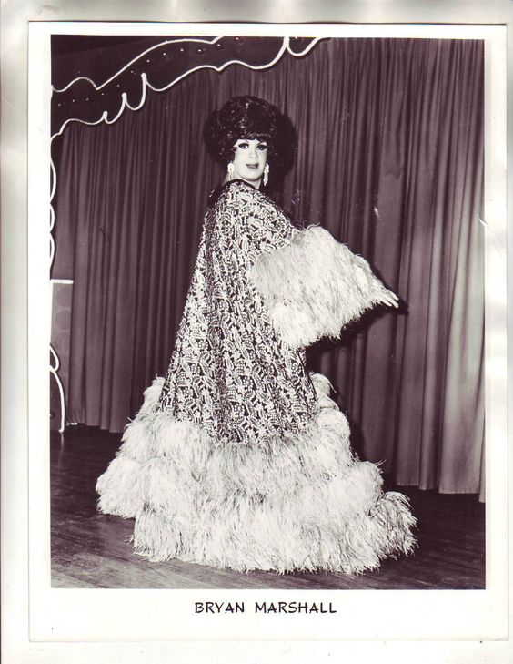 Vintage Drag Queen Photo/Bryan Marshall
