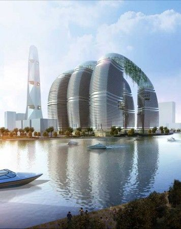 Cool, futuristic buildings.:
