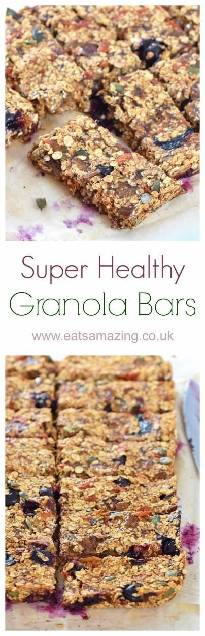 Super healthy granola bar recipe from Olympian Dame Mary Peters - sugar free dairy free and nut free - great for refuelling the whole family