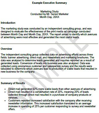 Writing Executive Summary Template mechanical design Pinterest - executive summary templates