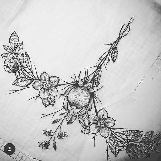 sternum tattoo 39 s pinterest beautiful instagram and flower. Black Bedroom Furniture Sets. Home Design Ideas
