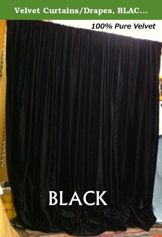 Velvet Curtains/Drapes, BLACK Color, Window Curtains, Absolute ...