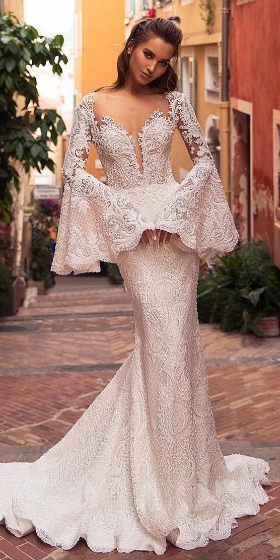Best 15 Styles Of Wedding Dresses With Lace Sleeves