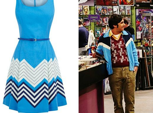 When I saw this dress, I thought of Raj :P   *made by me*