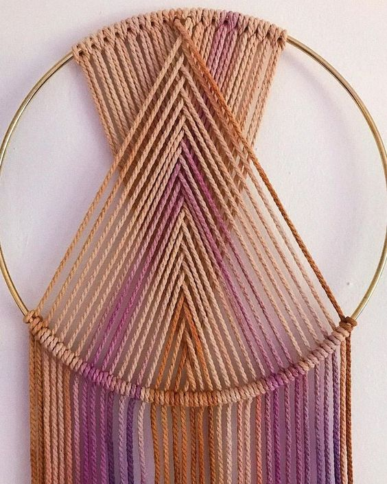36 How to Make an Easy DIY Wall Hanging with Yarn | decorsavage