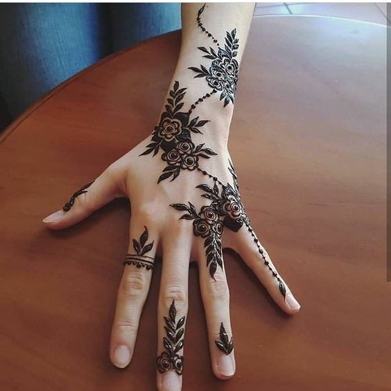 Beautiful Rose Henna Designs 2018 for Hand