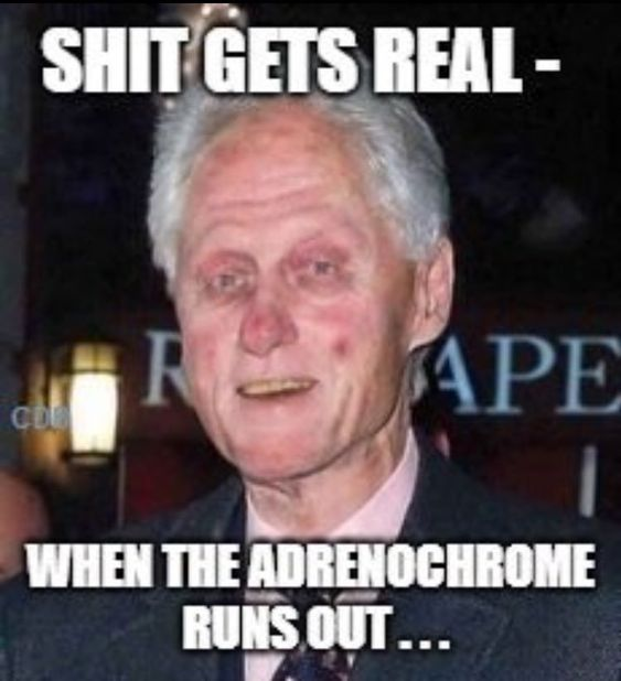 "72 SECONDS on Twitter: ""Adrenochrome Shortage... #QAnon"""